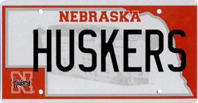 2002-2004 Nebraska Husker license plate