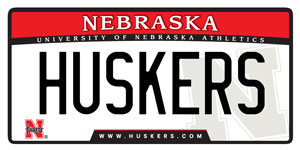 2005 Nebraska Husker license plate