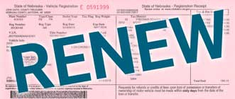 "pink registration paper with ""RENEW"" over it"