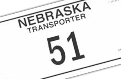 Nebraska Transporter license plate