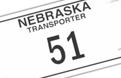 Nebraska Transporter license plate