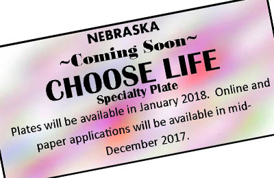 Choose Life license plate coming soon