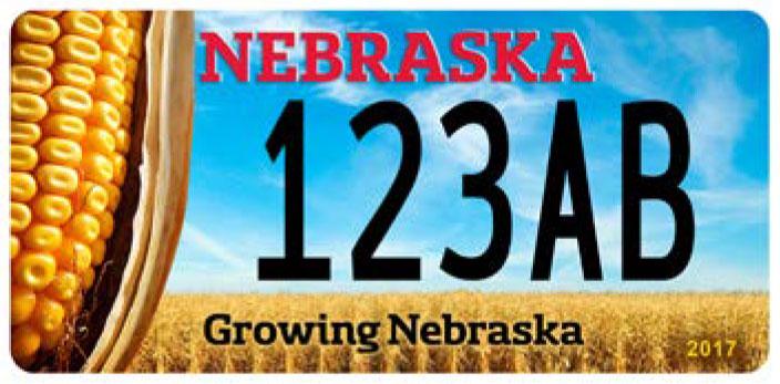 Corn growers association plates nebraska department of for State of nebraska department of motor vehicles