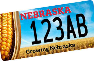 "Nebraska ""Growing Nebraska"" corn plate"