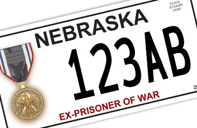 Nebraska Ex-Prisoner of War license plate