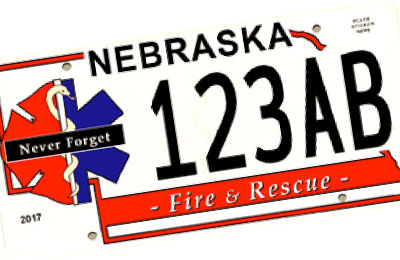 Nebraska Fire & Rescuse license plate