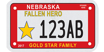 Nebraska Gold Star Family license plate