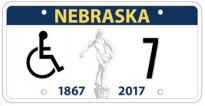 Sample Nebraska Handicapped plate