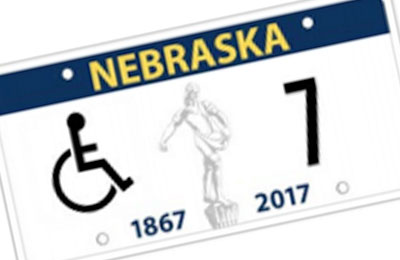 Nebraska Handicapped license plate