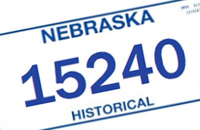 Nebraska Historical license plate