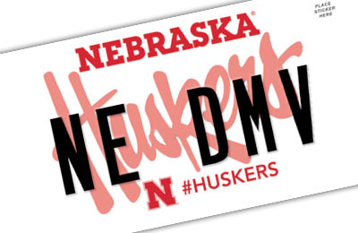Nebraska Huskers License Plates