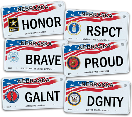 military honor plates | nebraska department of motor vehicles