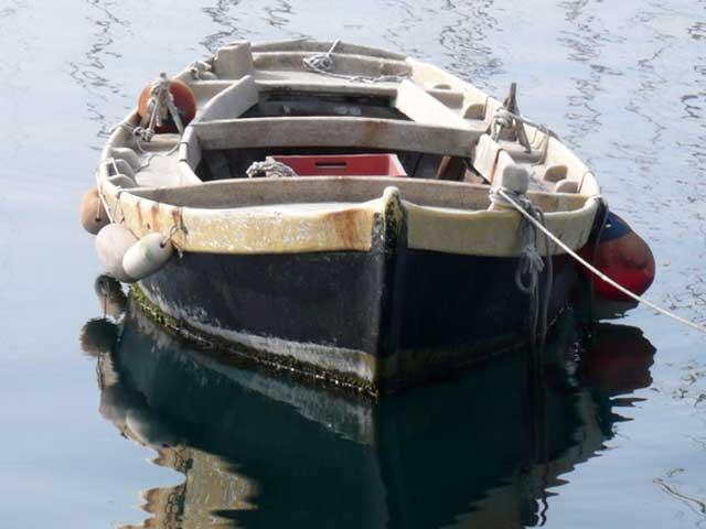 empty floating boat