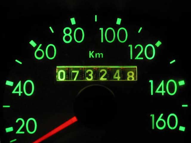 odometer of vehicle