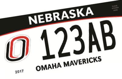 Nebraska University of Omaha Mavericks license plate
