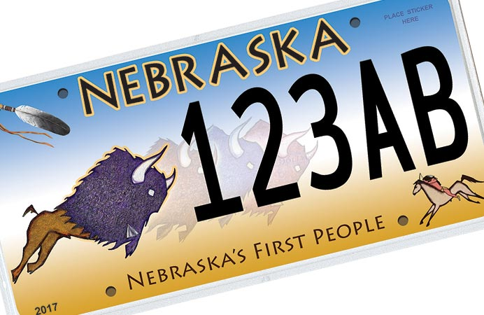Nebraska Native American license plate