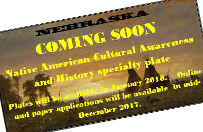 Nebraska Native American license plate coming soon