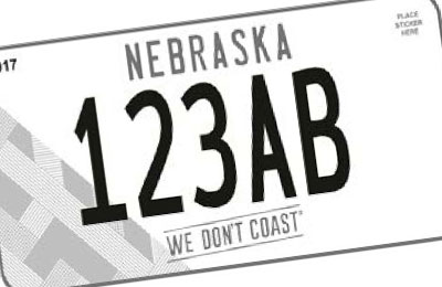Nebraska Omaha Chamber of Commerce license plate