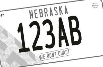 Nebraska Omaha Chamber of Commerce license plate