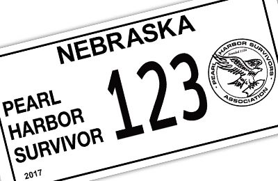 Nebraska Pearl Harbor Survivor license plate