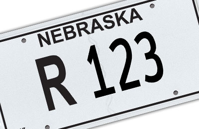 Nebraska repossession license plate