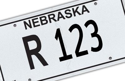 Nebraska repossession license plate