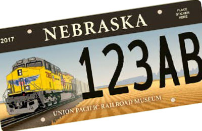 Nebraska Rail Road license plate