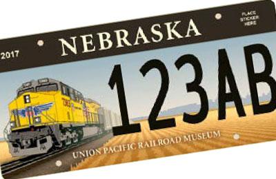 Nebraska Rail Road license plate
