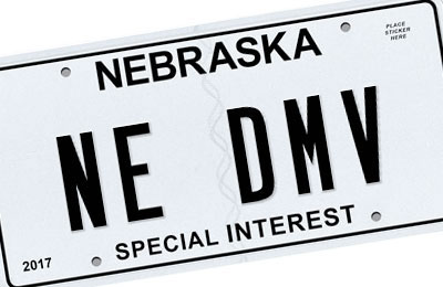 Nebraska Special Interest license plate