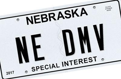 Nebraska Special Interest license plate