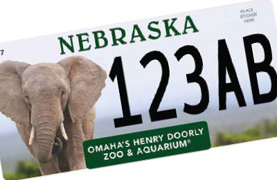 Nebraka Henry Doorly Zoo license plate